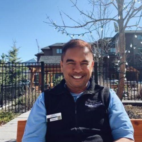 photo of rahul outside of origin at spring creek facility